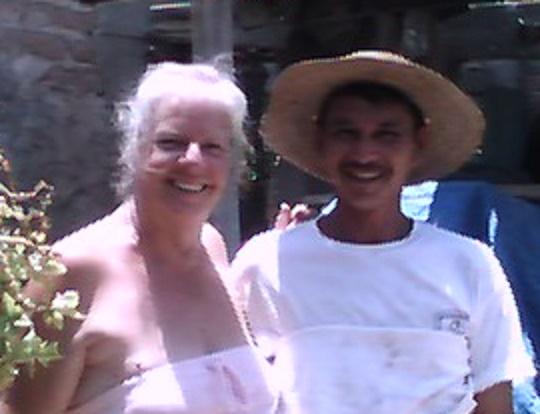 My mother and her novio Humberto circa 2007